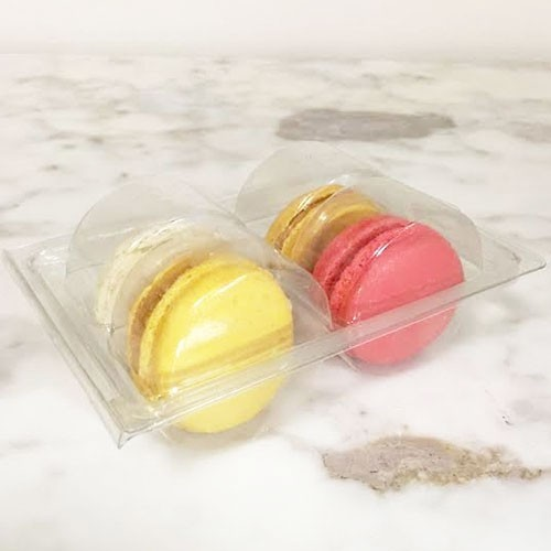 Clear Macaron Blister Box for 4 Macarons($1.2 each) - Pack of 20 Boxes