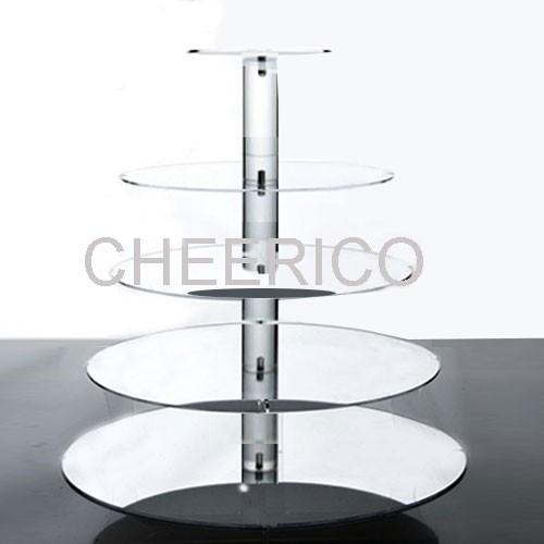 5 Tier Mirrored Effect Maypole Cupcake Tower