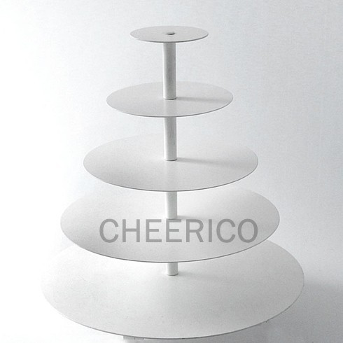 5 Tier White Round Maypole Cupcake Tower