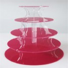5 Tier Red Round Cupcake Tower
