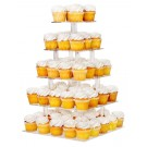 5 Tier Acrylic Square Cupcake Stand Tower Display